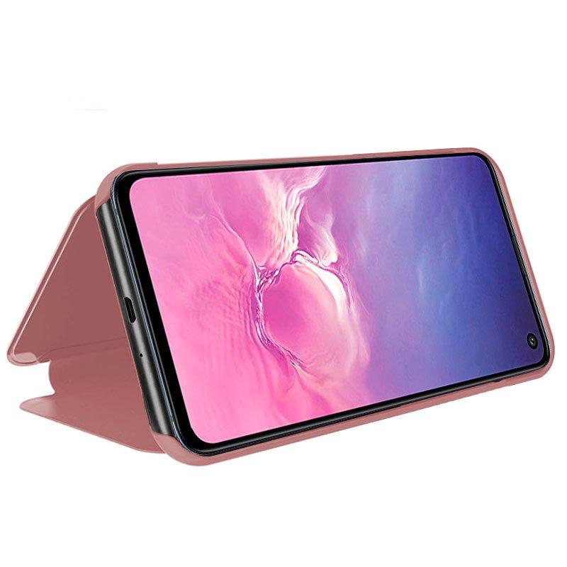 Funda Flip Cover Samsung G970 Galaxy S10e Clear View Rosa