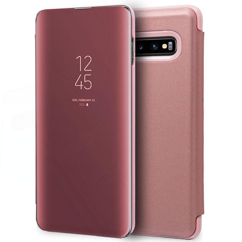 Funda Flip Cover Samsung G973 Galaxy S10 Clear View Rosa