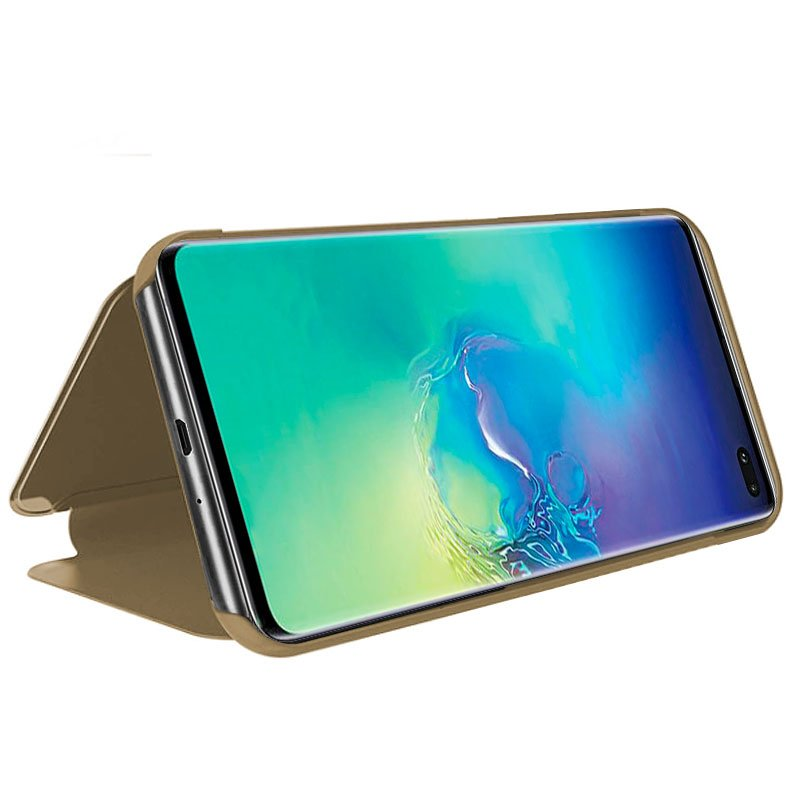 Funda Flip Cover Samsung G975 Galaxy S10 Plus Clear View Dorado