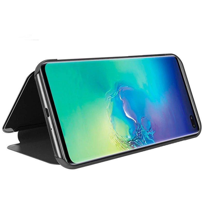 Funda Flip Cover Samsung G975 Galaxy S10 Plus Clear View Negro