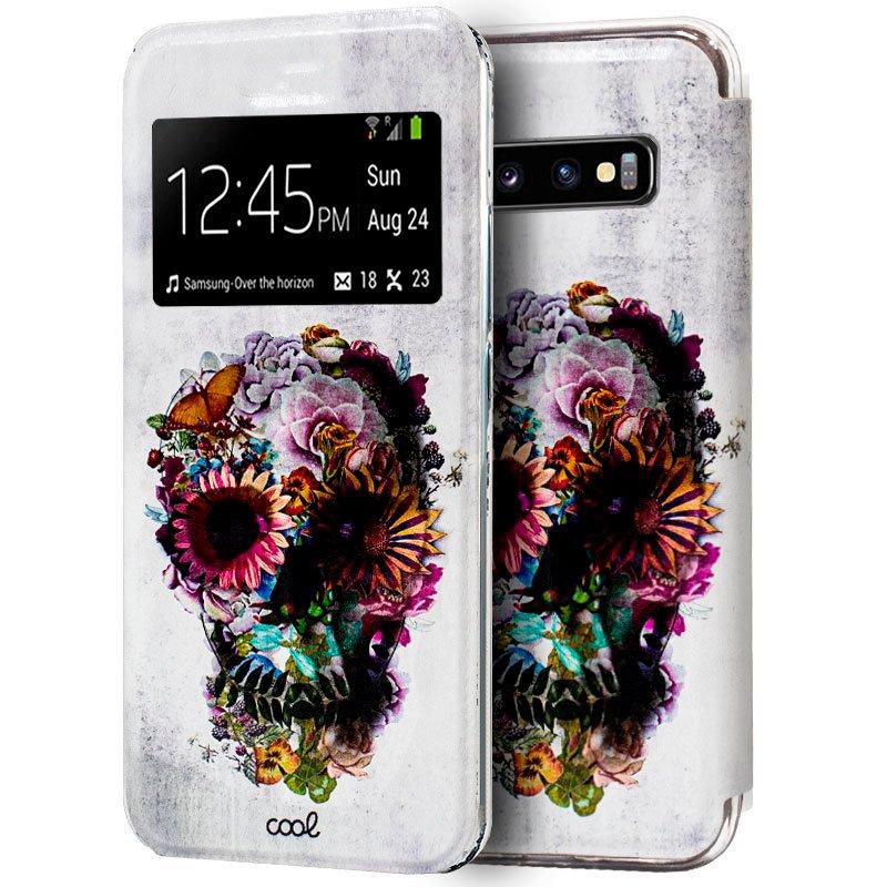 Funda Flip Cover Samsung G975 Galaxy S10 Plus Dibujos Calavera