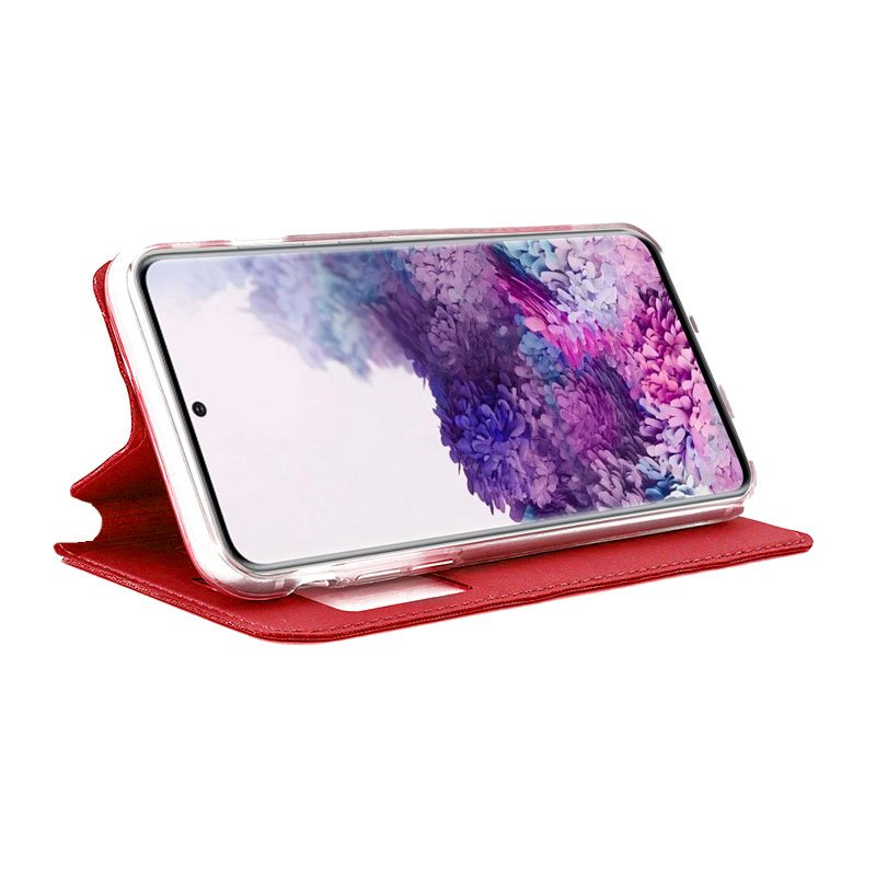 Funda Flip Cover Samsung G980 Galaxy S20 Liso Rojo