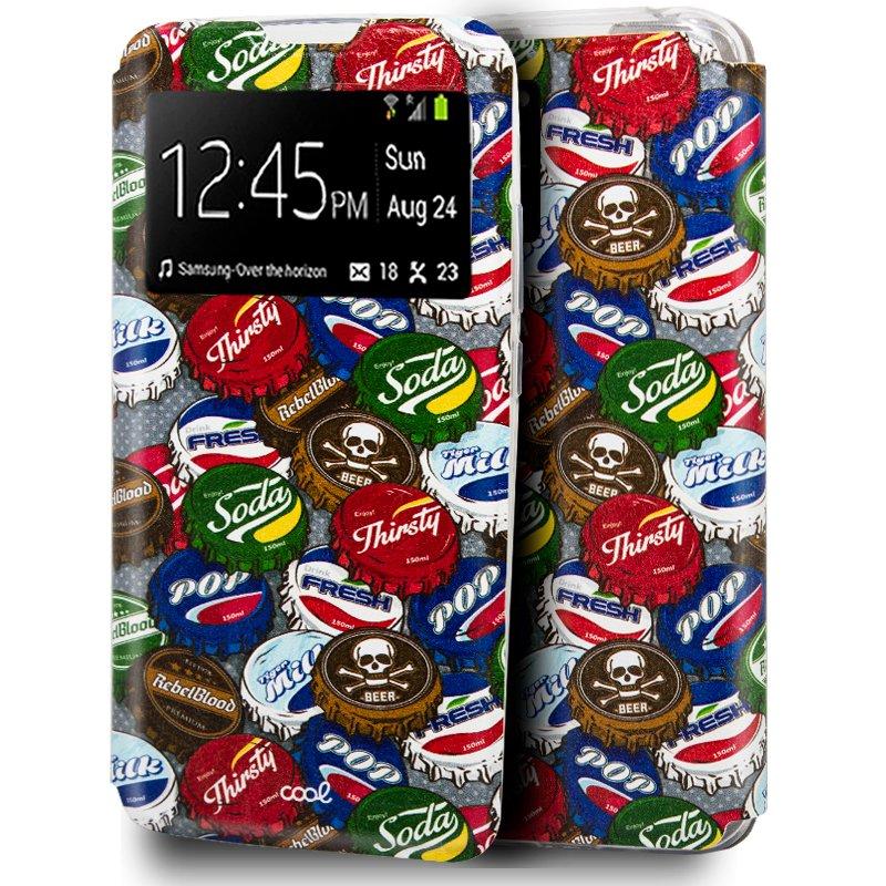 Funda Flip Cover Samsung G985 Galaxy S20 Plus Dibujos Chapas