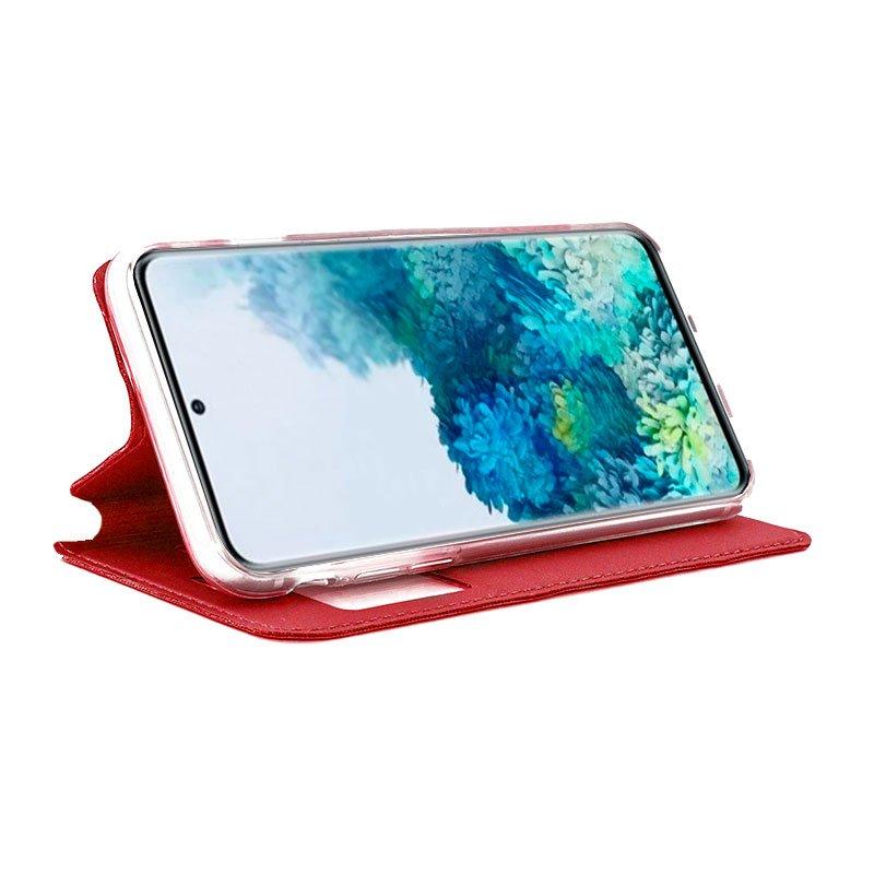 Funda Flip Cover Samsung G985 Galaxy S20 Plus Liso Rojo
