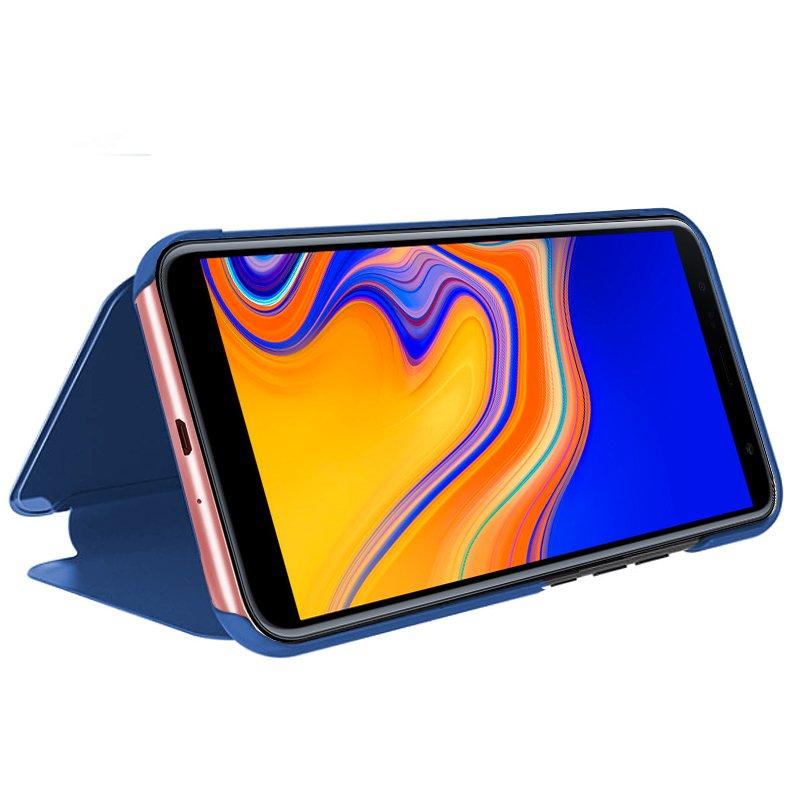 Funda Flip Cover Samsung J415 Galaxy J4 Plus Clear View Negro