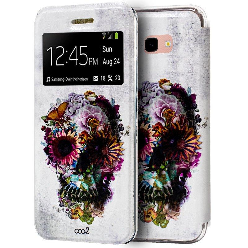 Funda Flip Cover Samsung J415 Galaxy J4 Plus Dibujos Calavera