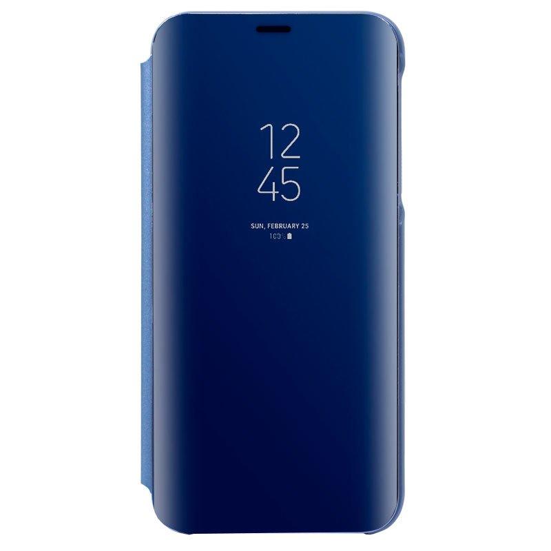 Funda Flip Cover Samsung J600 Galaxy J6 Clear View Azul