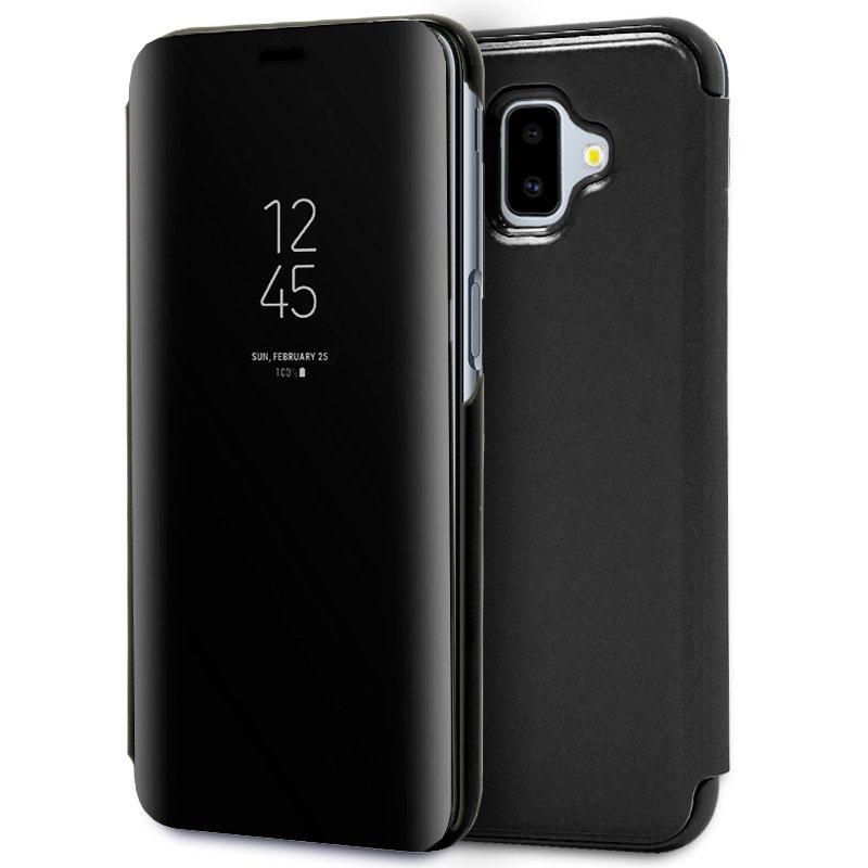 Funda Flip Cover Samsung J610 Galaxy J6 Plus Clear View Negro