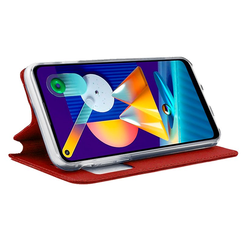 Funda Flip Cover Samsung M115 Galaxy M11 / A11 Liso Rojo