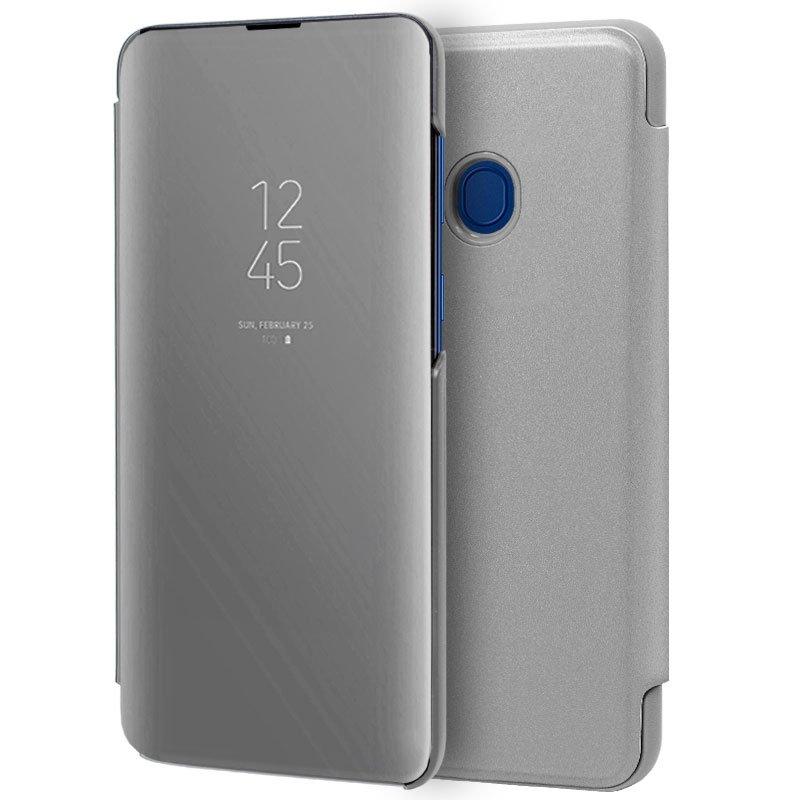 Funda Flip Cover Samsung M205 Galaxy M20 Clear View Plata