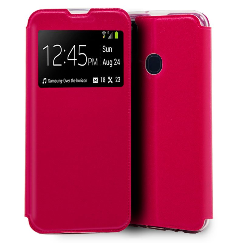 Funda Flip Cover Samsung M215 Galaxy M21 Liso Rosa