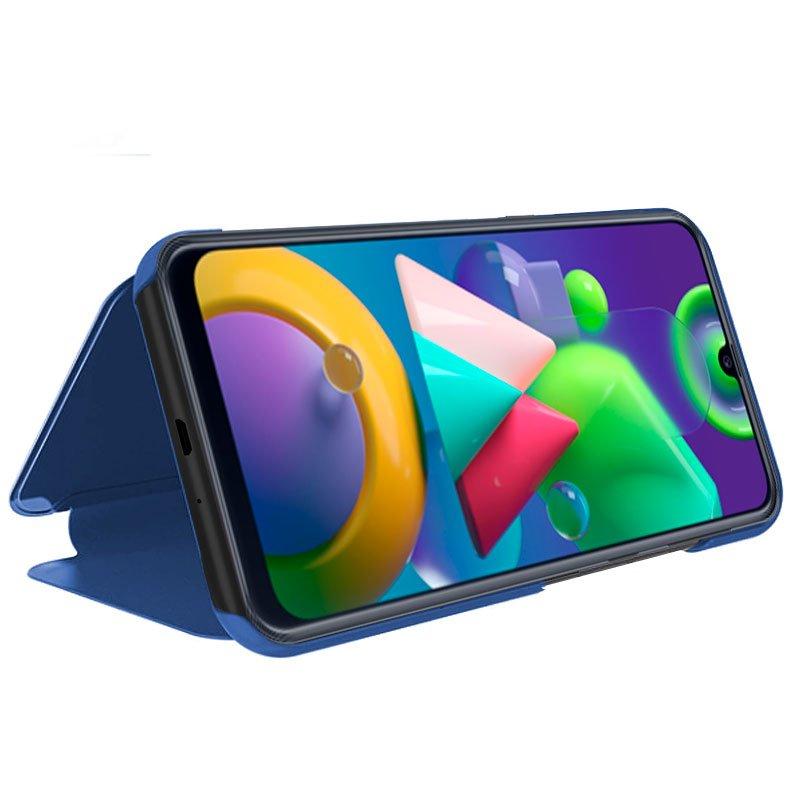 Funda Flip Cover Samsung M215 Galaxy M21 / M31 Clear View Azul