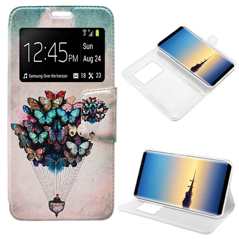 Funda Flip Cover Samsung N950 Galaxy Note 8 Dibujos Mariposas