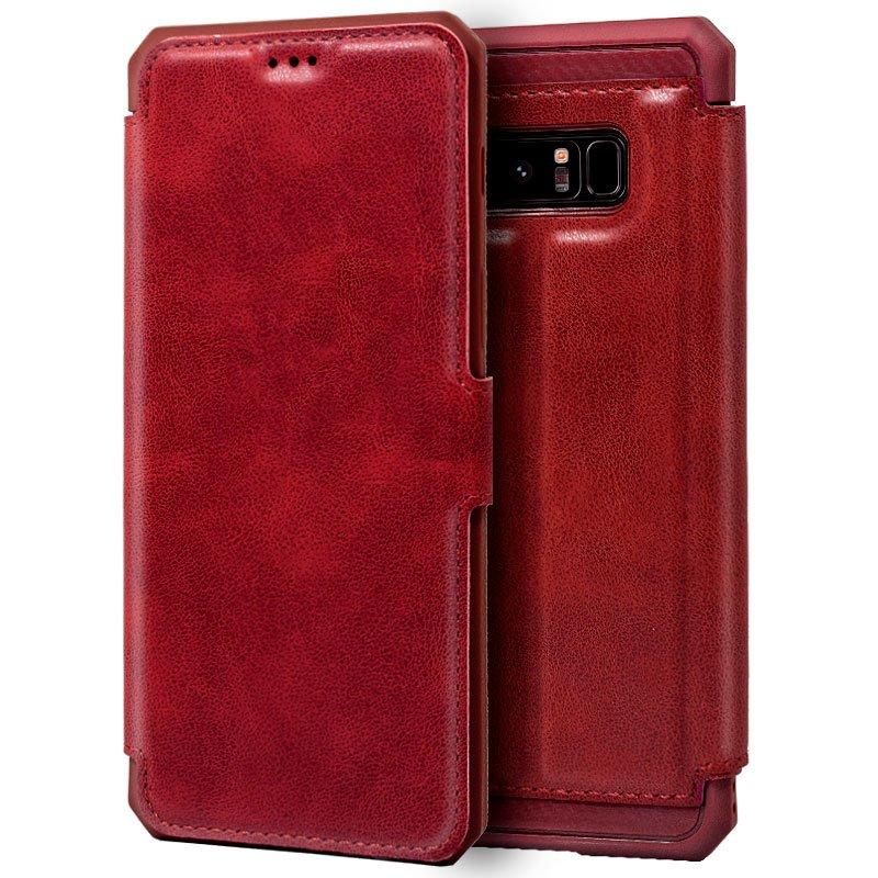Funda Flip Cover Samsung N950 Galaxy Note 8 Leather Rojo