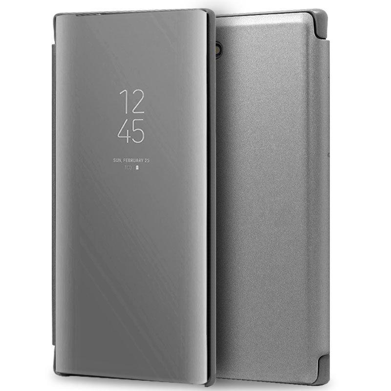Funda Flip Cover Samsung N970 Galaxy Note 10 Clear View Plata