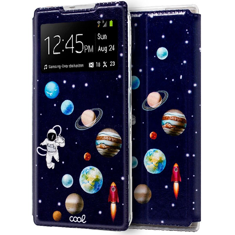 Funda Flip Cover Samsung N970 Galaxy Note 10 Dibujos Astronauta