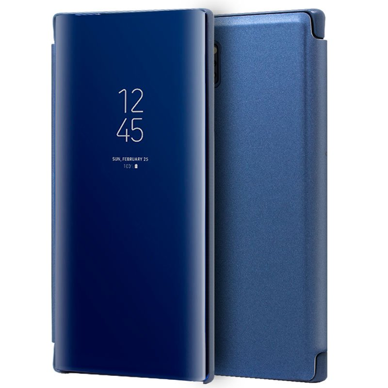 Funda Flip Cover Samsung N975 Galaxy Note 10 Plus Clear View Azul