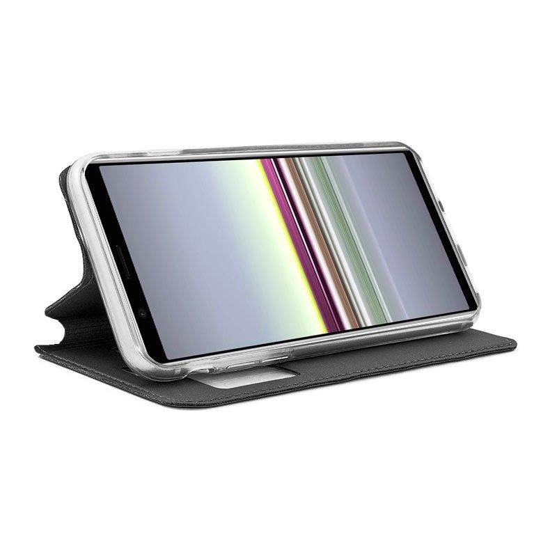 Funda Flip Cover Sony Xperia 5 Liso Negro