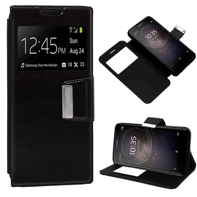 Funda Flip Cover Sony Xperia L2 Liso Negro