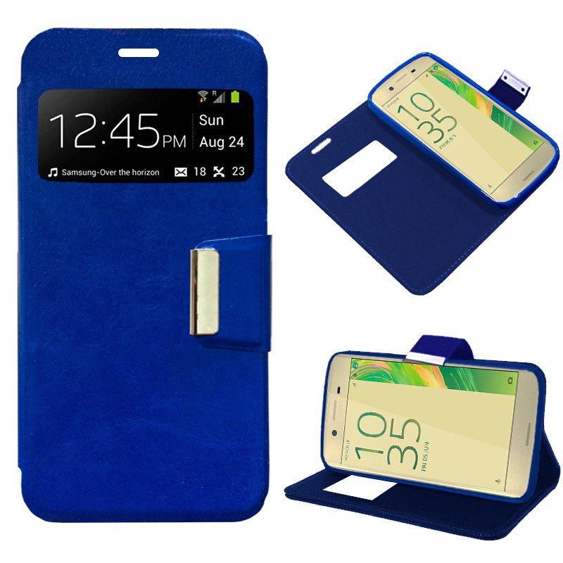 Funda Flip Cover Sony Xperia X Liso Azul