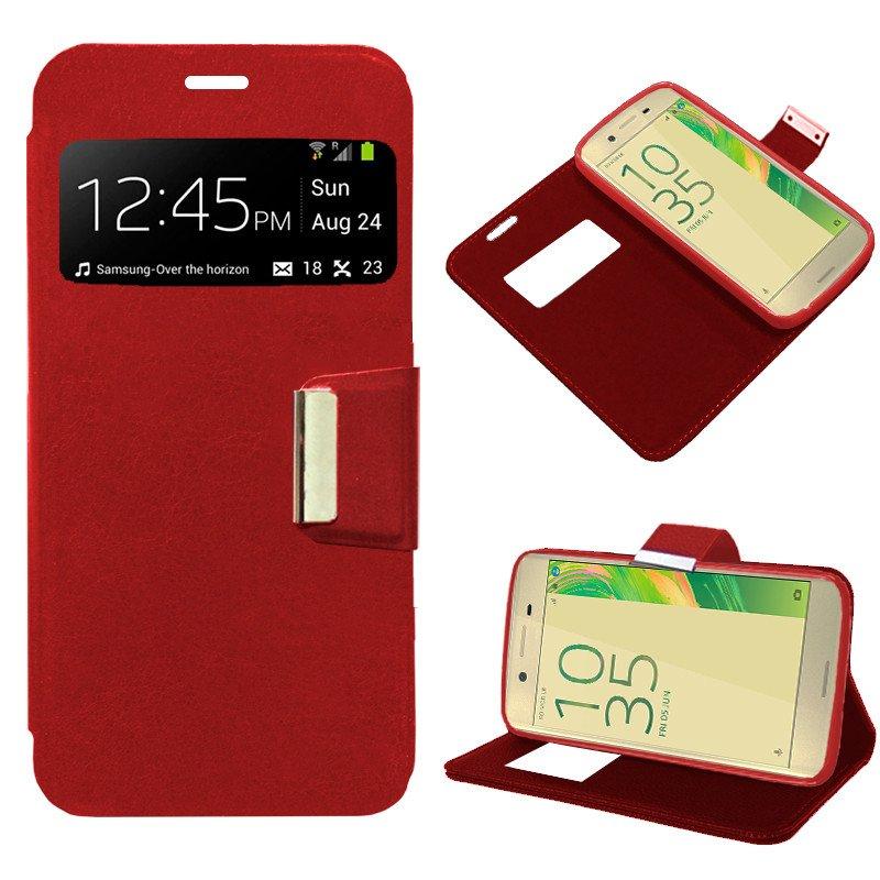 Funda Flip Cover Sony Xperia X Liso Rojo