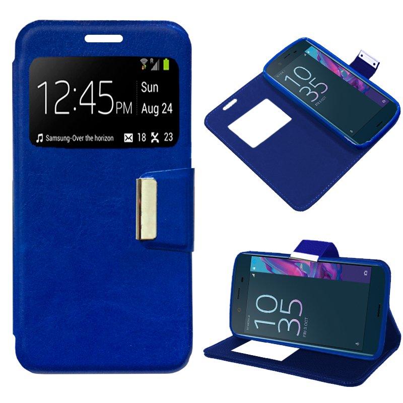 Funda Flip Cover Sony Xperia XZ Liso Azul