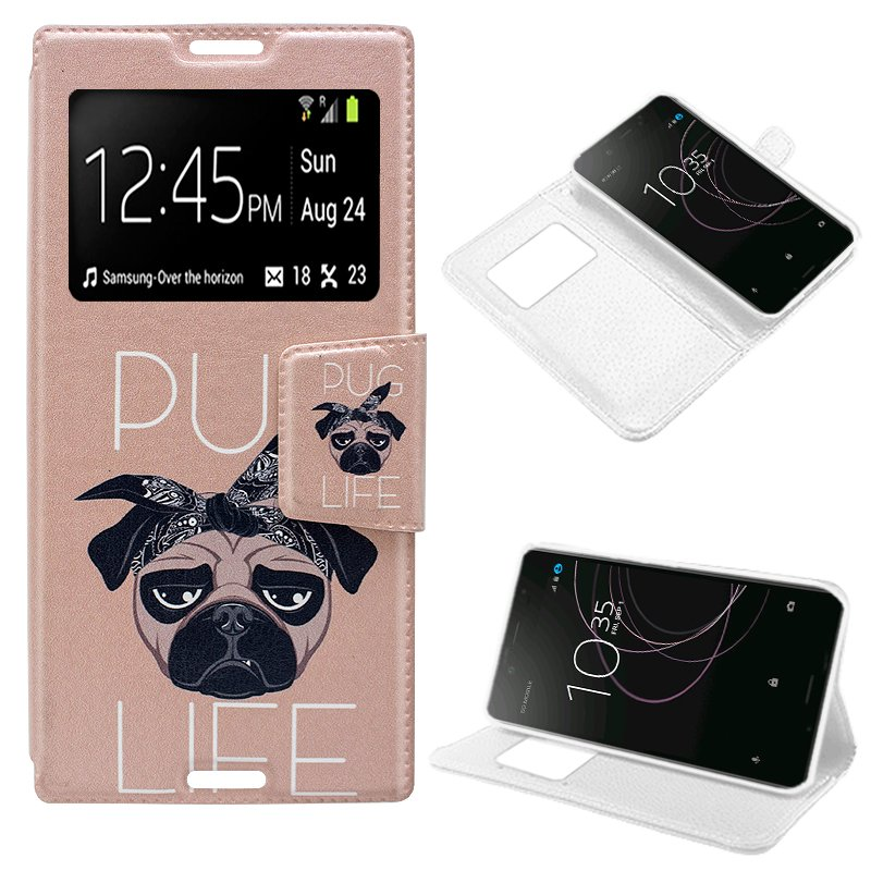 Funda Flip Cover Sony Xperia XZ1 Dibujos Dog