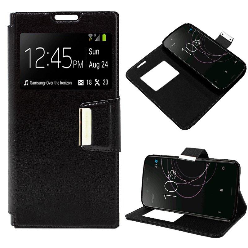 Funda Flip Cover Sony Xperia XZ1 Liso Negro