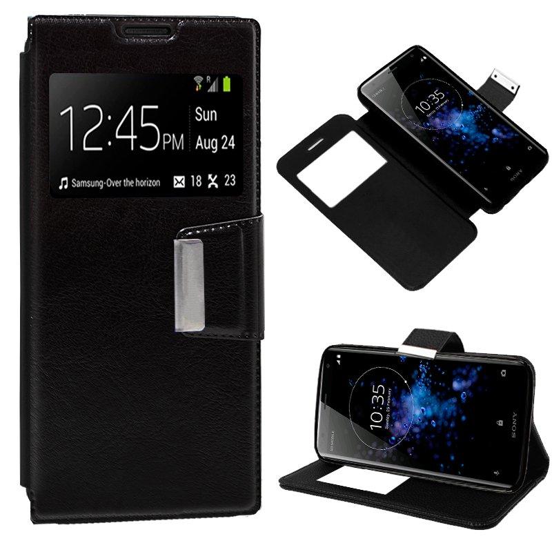 Funda Flip Cover Sony Xperia XZ2 Liso Negro