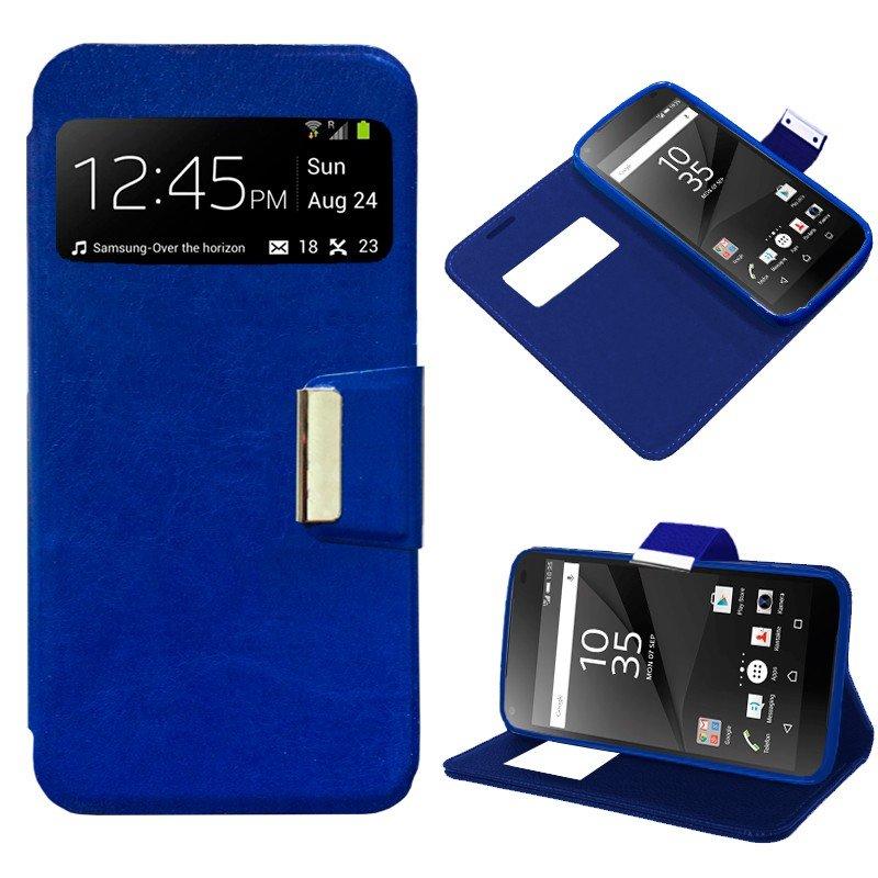 Funda Flip Cover Sony Xperia Z5 Compact Liso Azul