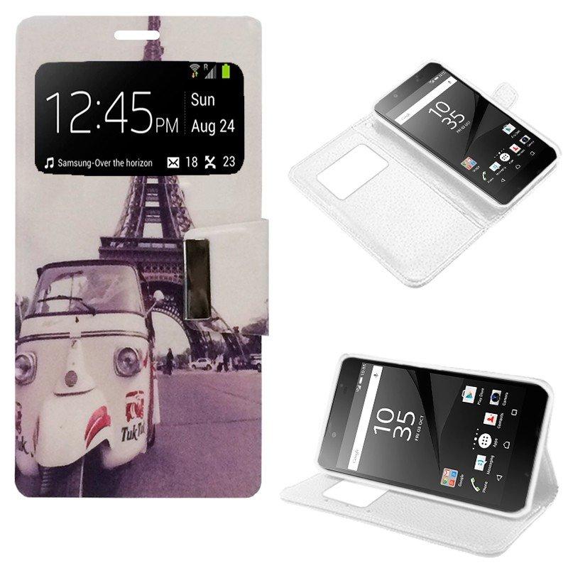 Funda Flip Cover Sony Xperia Z5 Premium Dibujos Paris