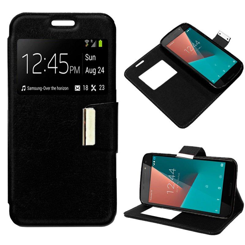 Funda Flip Cover Vodafone Smart N8 Liso Negro