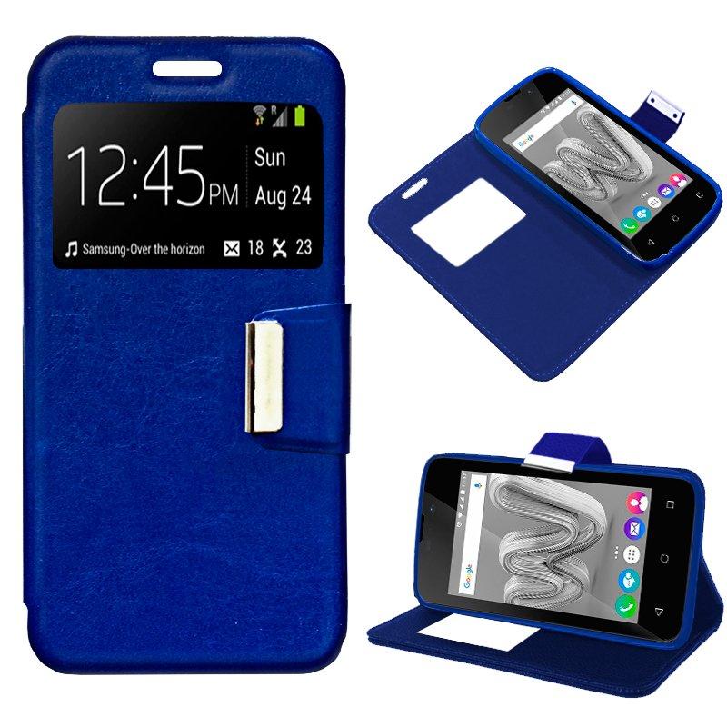 Funda Flip Cover Wiko Sunny Max Liso Azul