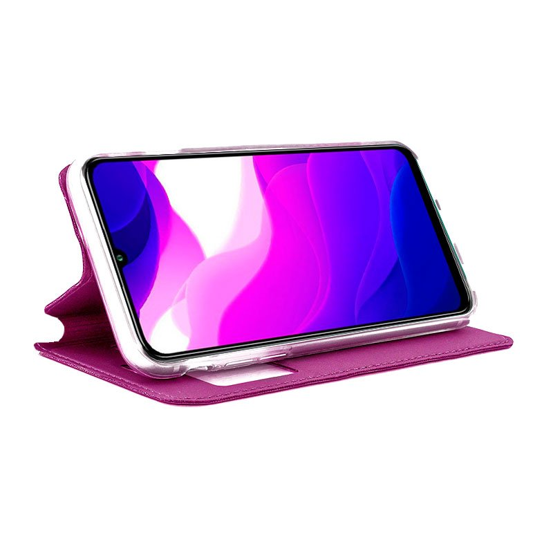 Funda Flip Cover Xiaomi Mi 10 Lite Liso Rosa