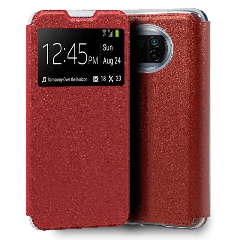 Funda Flip Cover Xiaomi Mi 10T Lite Liso Rojo