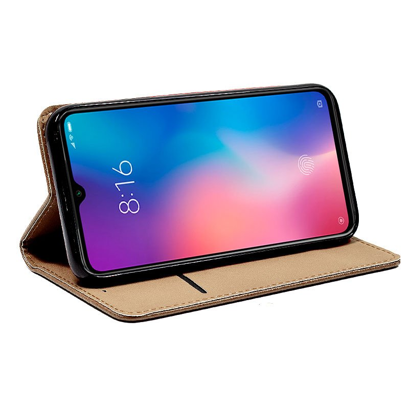 Funda Flip Cover Xiaomi Mi 9 Liso Beige