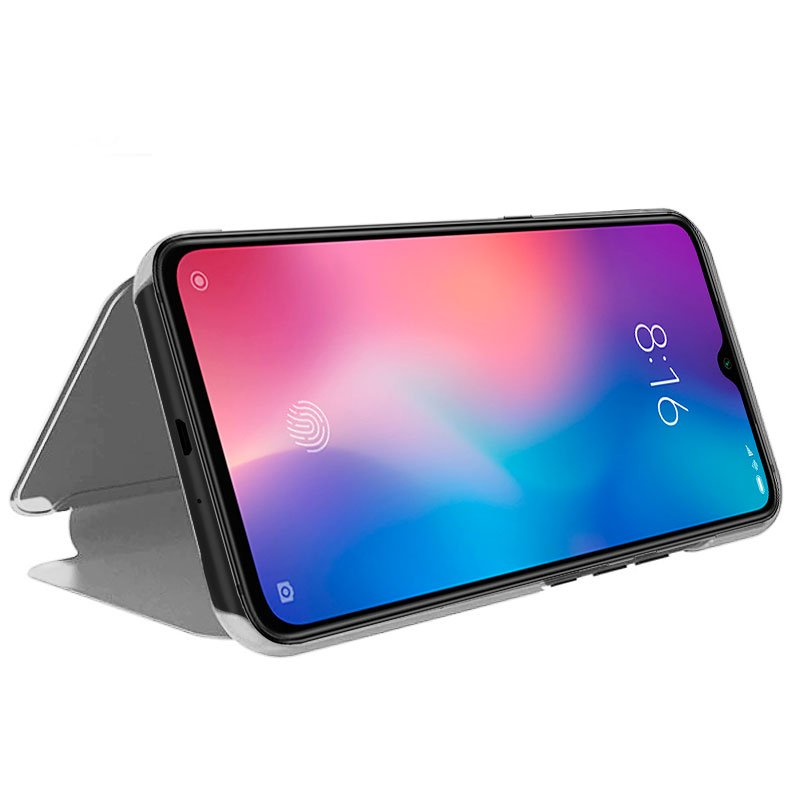 Funda Flip Cover Xiaomi Mi 9 SE Clear View Plata
