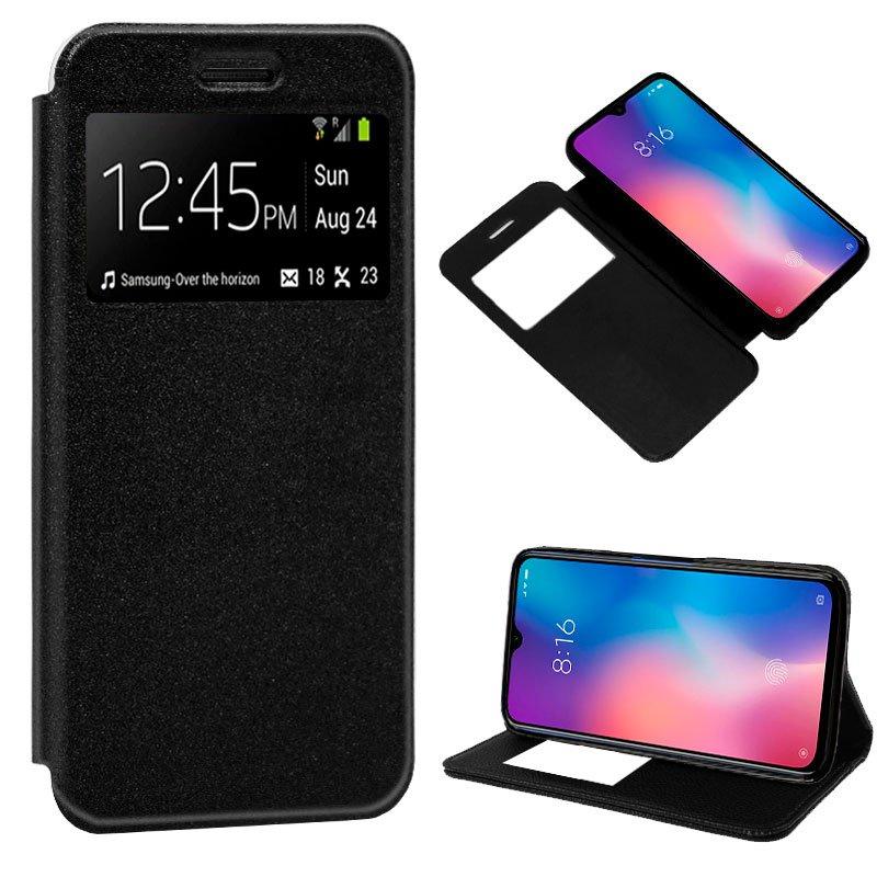 Funda Flip Cover Xiaomi Mi 9 SE Liso Negro