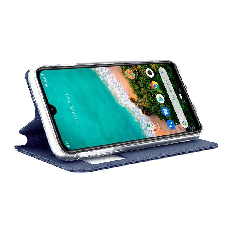 Funda Flip Cover Xiaomi Mi A3 Liso Azul