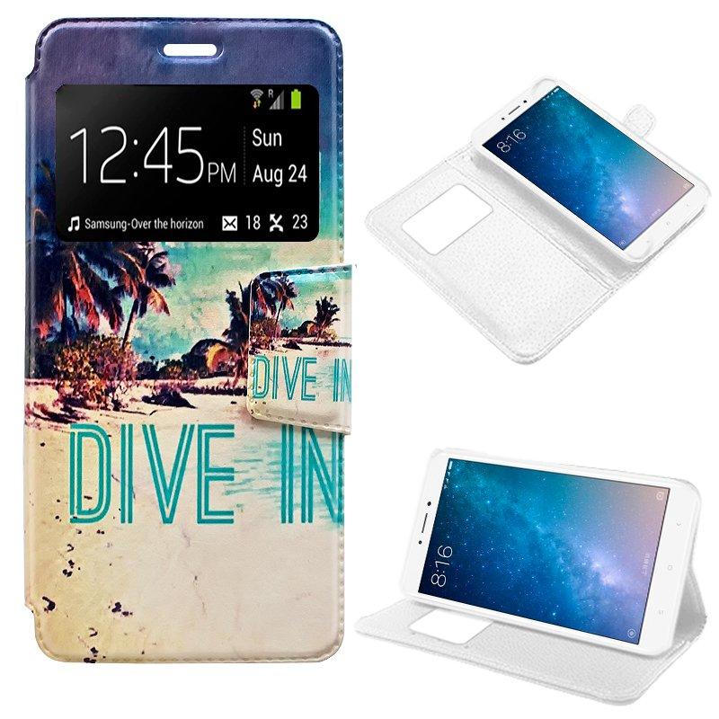 Funda Flip Cover Xiaomi Mi Max 2 Dibujos Beach