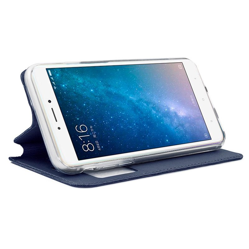 Funda Flip Cover Xiaomi Mi Max 2 Liso Azul