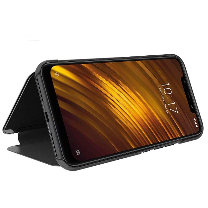 Funda Flip Cover Xiaomi Pocophone F1 Clear View Negro