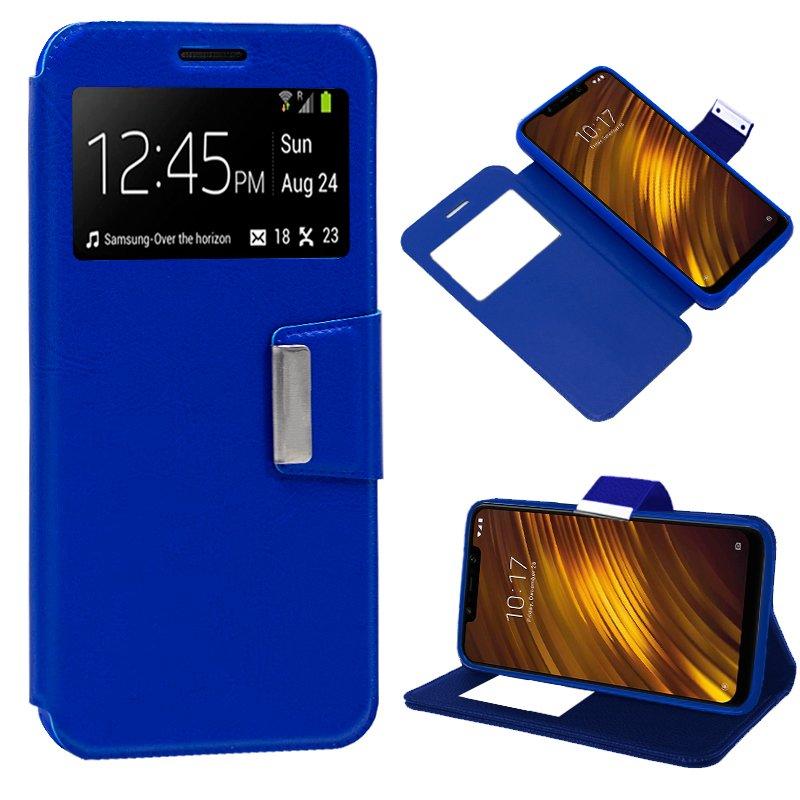 Funda Flip Cover Xiaomi Pocophone F1 Liso Azul