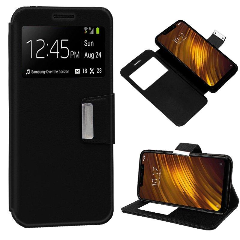 Funda Flip Cover Xiaomi Pocophone F1 Liso Negro