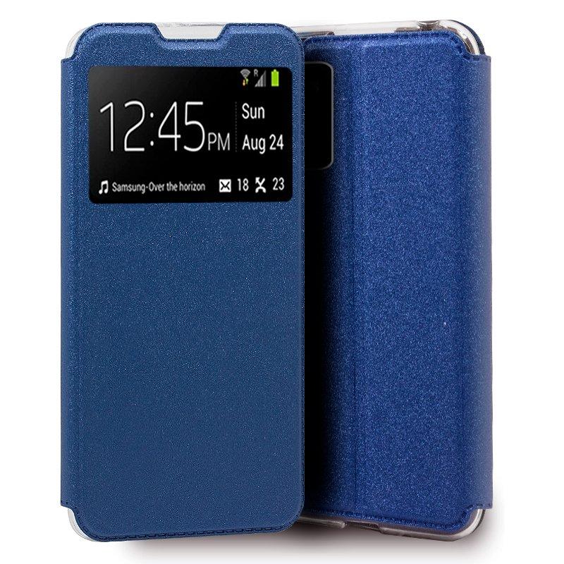 Funda Flip Cover Xiaomi Pocophone M3 Liso Azul