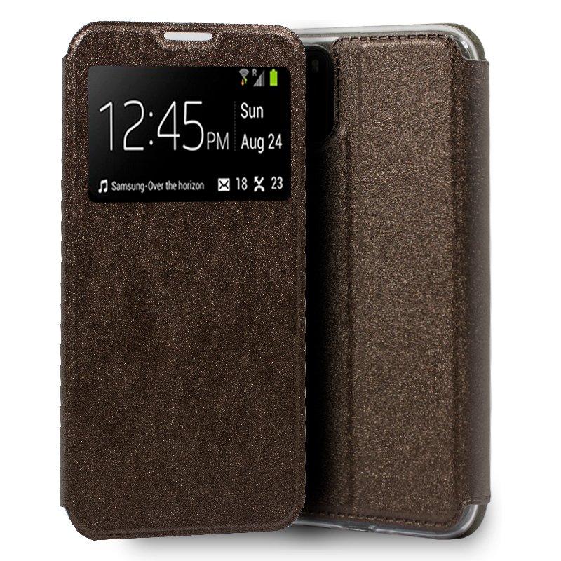 Funda Flip Cover Xiaomi Pocophone M3 Liso Bronce