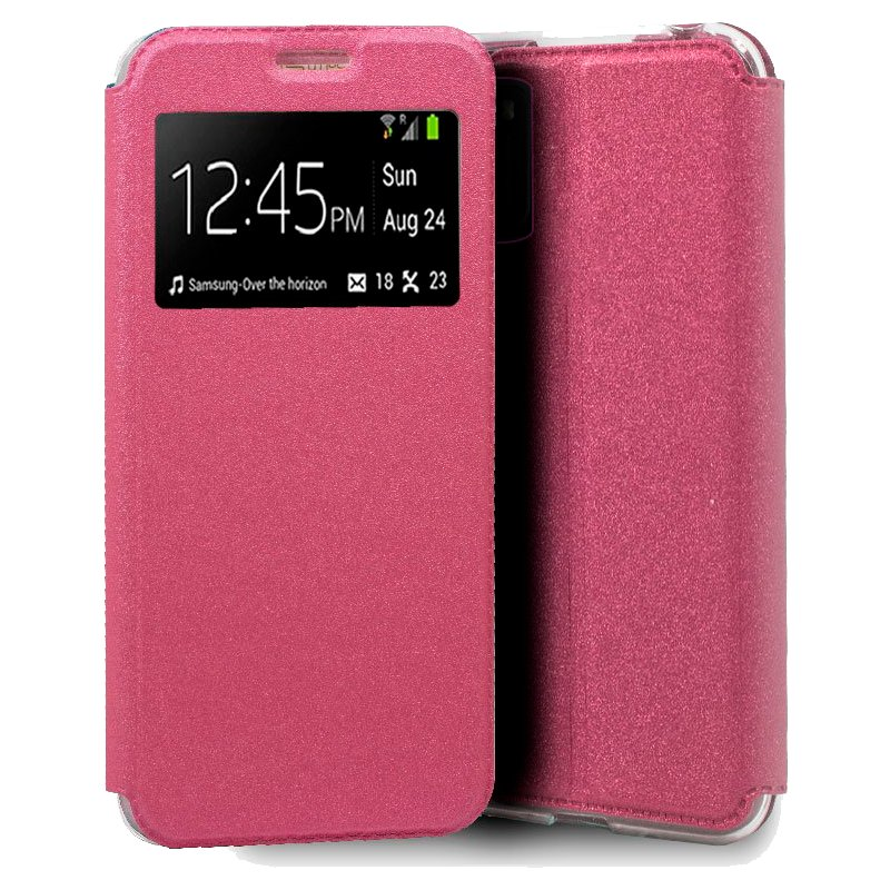 Funda Flip Cover Xiaomi Pocophone M3 Liso Rosa