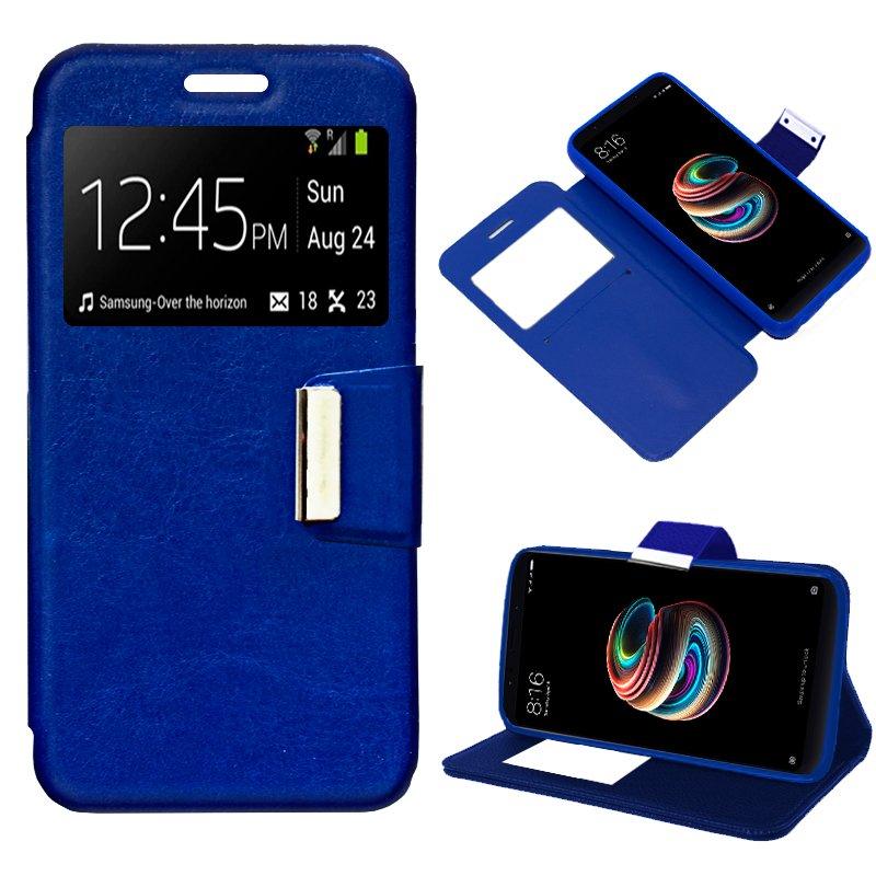 Funda Flip Cover Xiaomi Redmi 5 Plus Liso Azul