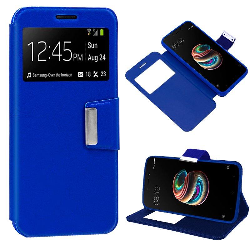 Funda Flip Cover Xiaomi Redmi 5A Liso Azul