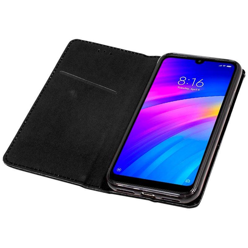 Funda Flip Cover Xiaomi Redmi 7 Liso Negro